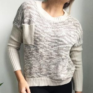 Razzle Dazzle Knit Pocket Sweater
